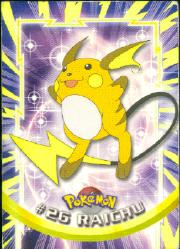 2000 Pokemon TV Animation  Topps #26  Raichu
