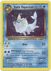 2002 Pokemon Legendary Collection #9  Dark Vaporeon HOLO R