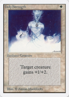 1993 Magic the Gathering Unlimited #116 Holy Strength C :W: