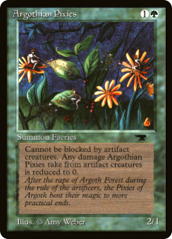 1994 Magic the Gathering Antiquities #4  Argothian Pixies C4 :G: