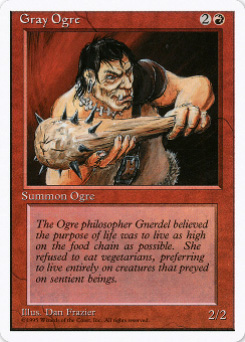 1995 Magic the Gathering 4th Edition #146 Gray Ogre C :R: