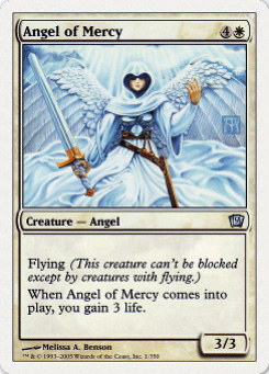 2005 Magic the Gathering 9th Edition #8  Angel of Mercy U :W: