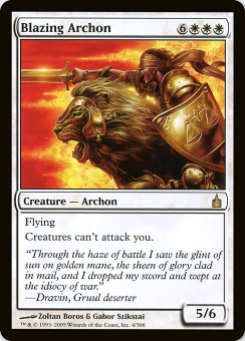 2005 Magic the Gathering Ravnica: City of Guilds #9  Blazing Archon R :W: