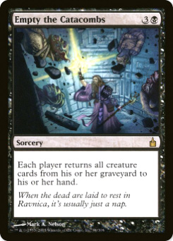 2005 Magic the Gathering Ravnica: City of Guilds #80  Empty the Catacombs R :K: