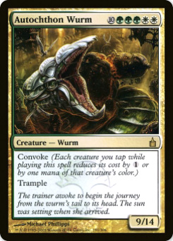2005 Magic the Gathering Ravnica: City of Guilds #3  Autochthon Wurm R :D: