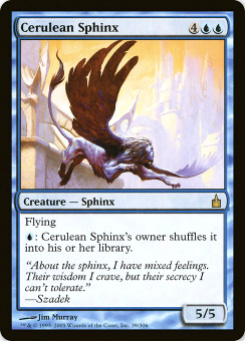 2005 Magic the Gathering Ravnica: City of Guilds #29  Cerulean Sphinx R :B: