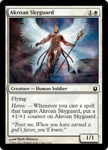 2014 Magic The Gathering Born of the Gods #3 Akroan Skyguard C :W: