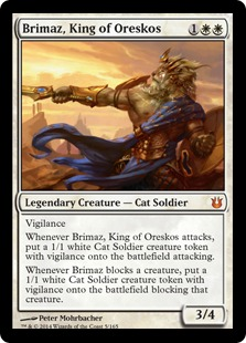 2014 Magic The Gathering Born of the Gods #5 Brimaz, King of Oreskos M :W: