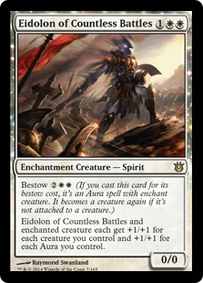 2014 Magic The Gathering Born of the Gods #7 Eidolon of Countless Battles R :W: