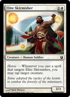 2014 Magic The Gathering Born of the Gods #8 Elite Skirmisher C :W: