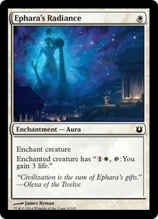 2014 Magic The Gathering Born of the Gods #9 Ephara's Radiance C :W: