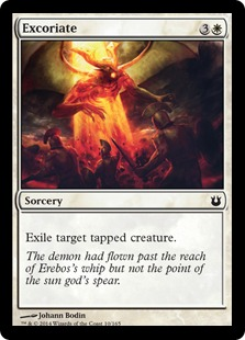 2014 Magic The Gathering Born of the Gods #10 Excoriate C :W: