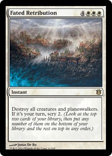 2014 Magic The Gathering Born of the Gods #11 Fated Retribution R :W: