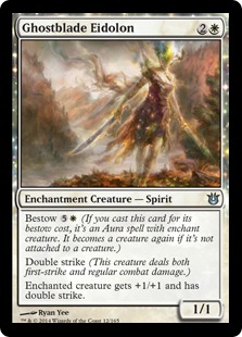 2014 Magic The Gathering Born of the Gods #12 Ghostblade Eidolon U :W: