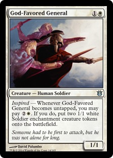 2014 Magic The Gathering Born of the Gods #14 God-Favored General U :W: