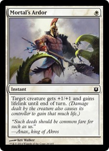 2014 Magic The Gathering Born of the Gods #20 Mortal's Ardor C :W: