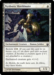 2014 Magic The Gathering Born of the Gods #21 Nyxborn Shieldmate C :W: