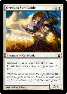 2014 Magic The Gathering Born of the Gods #22 Oreskos Sun Guide C :W: