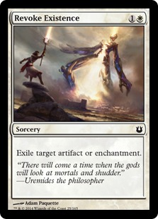 2014 Magic The Gathering Born of the Gods #25 Revoke Existence C :W: