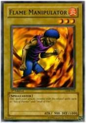 2002 Yu-Gi-Oh Legend of Blue Eyes White Dragon 1st Edition #LOB-16  Flame Manipulator