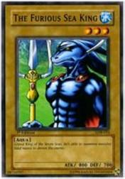 2002 Yu-Gi-Oh Legend of Blue Eyes White Dragon 1st Edition #LOB-33  The Furious Sea King