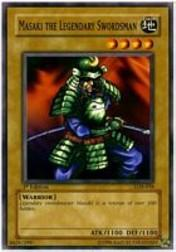 2002 Yu-Gi-Oh Legend of Blue Eyes White Dragon 1st Edition #LOB-38  Masaki Legendary Swordsman