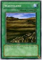 2002 Yu-Gi-Oh Legend of Blue Eyes White Dragon 1st Edition #LOB-47  Wasteland