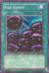 2002 Yu-Gi-Oh Legend of Blue Eyes White Dragon Unlimited #LOB-90  Vile Germs (SP)