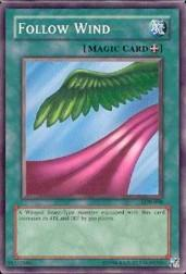 2002 Yu-Gi-Oh Legend of Blue Eyes White Dragon Unlimited #LOB-98  Follow Wind (SSP)