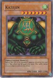 2002 Yu-Gi-Oh Metal Raiders Unlimited #MRD-26  Kazejin (SR)