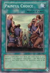 2002 Yu-Gi-Oh Magic Ruler Unlimited #MRL-49  Painful Choice (SR)