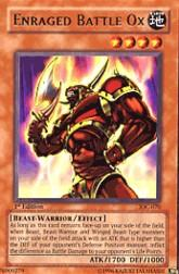 2004 Yu-Gi-Oh Invasion of Chaos 1st Edition #IOC-70  Enraged Battle Ox (R)