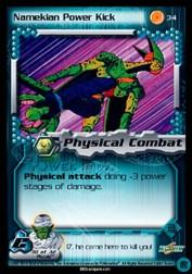 2001 Dragon Ball Z Cell Saga #34  Namekian Power Kick C
