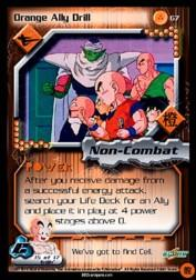 2001 Dragon Ball Z Cell Saga #67  Orange Ally Drill U