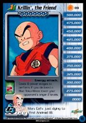 2001 Dragon Ball Z Cell Saga #89  Krillin, the Friend (Level 1) U