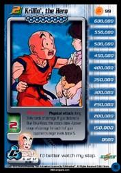 2001 Dragon Ball Z Cell Saga #99  Krillin, the Hero (Level 2) U