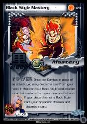 2001 Dragon Ball Z Cell Saga #129  Black Style Mastery R
