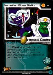 2002 Dragon Ball Z World Games Saga Limited #17  Namekian Elbow Strike C