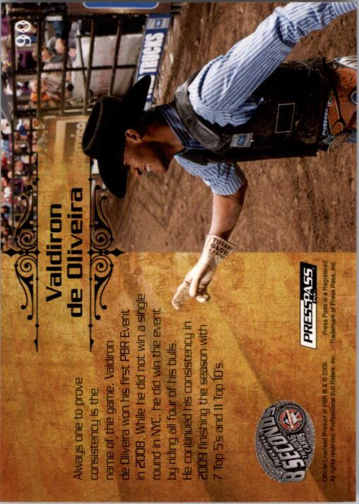 2009 Press Pass 8 Seconds PBR #90 Valdiron de Oliveira