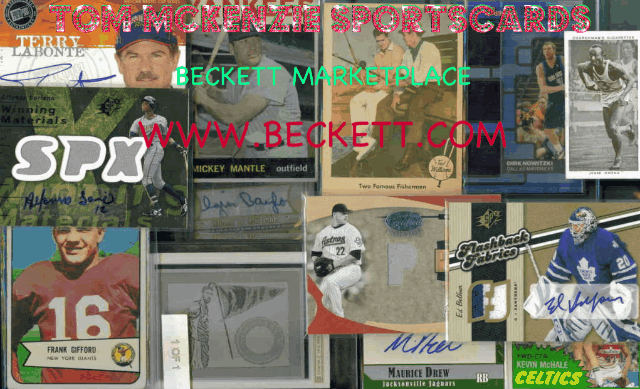 Tom McKenzie Sportscards