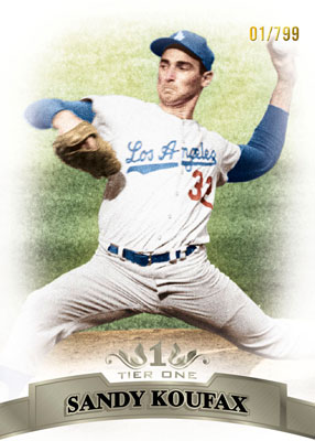 2011ToppsTierOneBaseballBaseKoufax