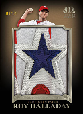 2011ToppsTierOneBaseballJumboPatchHalladay