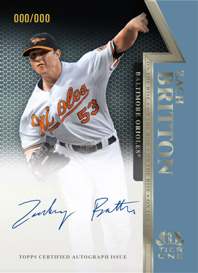 2011ToppsTierOneBaseballOnCardZachBritton