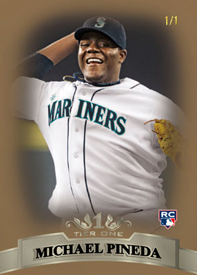 2011ToppsTierOneBaseballRookieBaseParallelPineda