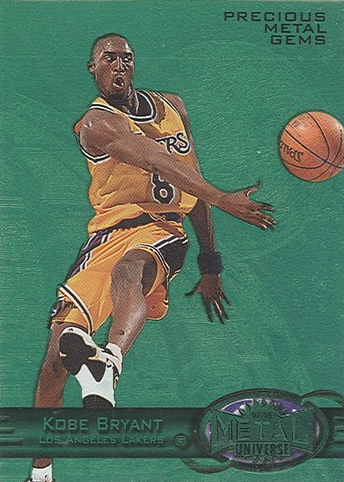 new concept d08f2 558e7 By Chris Olds   Beckett Basketball Editor   Commentary. A Kobe Bryant 1997-98  Metal Universe Precious Metal Gems Emerald card ...