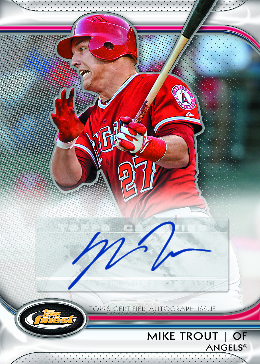 Mike Trout Is Topps Third 2012 Finest Rookie Beckett News
