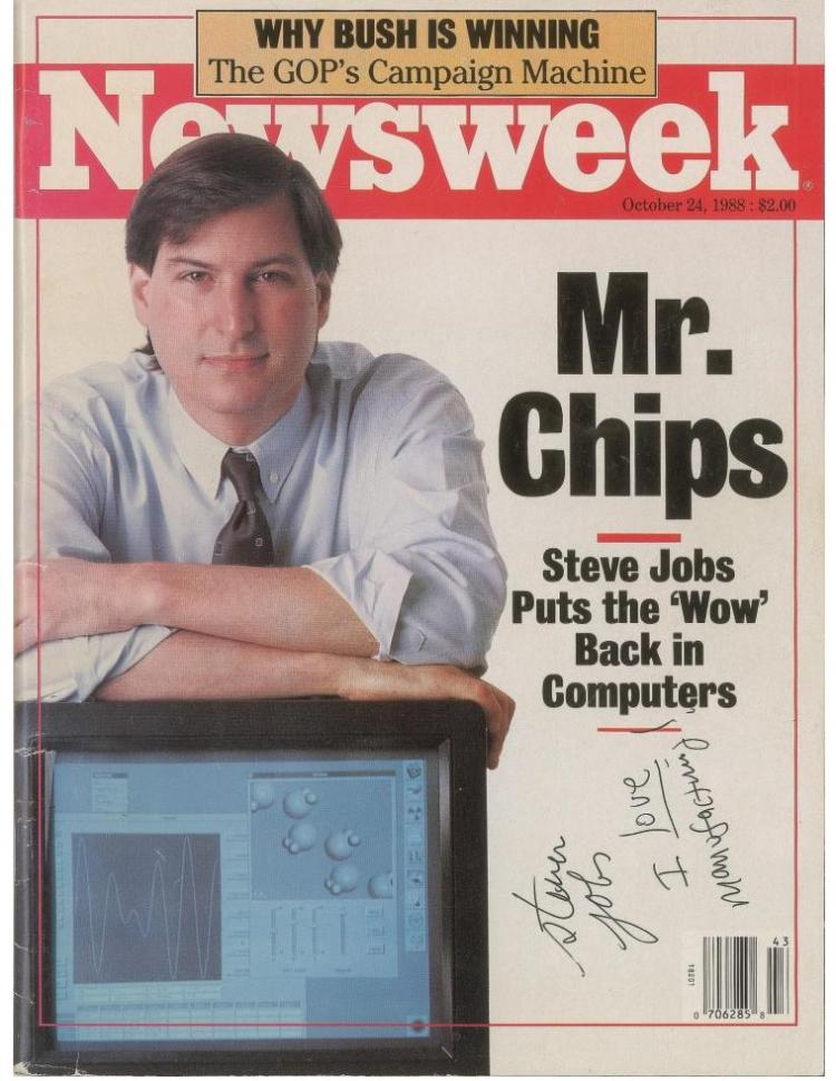 Steve Jobs's Newsweek Cover Autograph Auction | Beckett Authentication Services ;?>