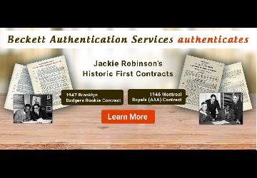 Jackie Robinson Baseball Contract Sale | Beckett A...