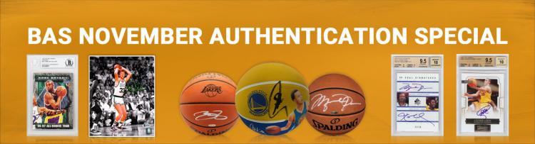 Autograph Authentication Offer - 1/2 off Basketball Signer Fees ;?>