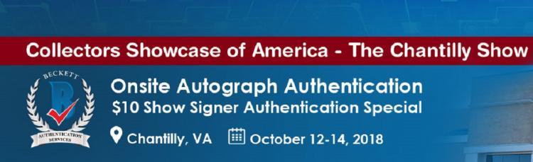 Onsite Autograph Authentication Event - Chantilly Show ;?>